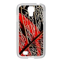 Leaf Pattern Samsung Galaxy S4 I9500/ I9505 Case (white) by BangZart