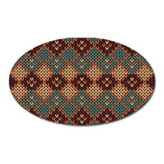 Knitted Pattern Oval Magnet by BangZart