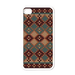 Knitted Pattern Apple Iphone 4 Case (white) by BangZart