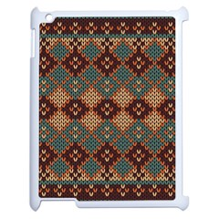 Knitted Pattern Apple Ipad 2 Case (white) by BangZart