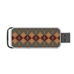Knitted Pattern Portable Usb Flash (two Sides) by BangZart