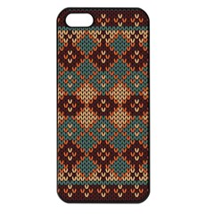 Knitted Pattern Apple Iphone 5 Seamless Case (black) by BangZart