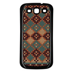 Knitted Pattern Samsung Galaxy S3 Back Case (black) by BangZart