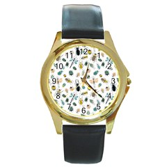 Insect Animal Pattern Round Gold Metal Watch by BangZart