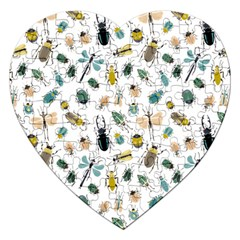 Insect Animal Pattern Jigsaw Puzzle (heart) by BangZart