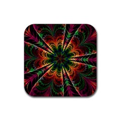 Kaleidoscope Patterns Colors Rubber Coaster (square)  by BangZart