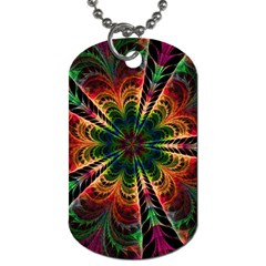 Kaleidoscope Patterns Colors Dog Tag (one Side) by BangZart
