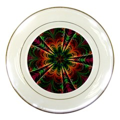 Kaleidoscope Patterns Colors Porcelain Plates by BangZart