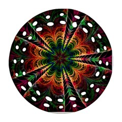 Kaleidoscope Patterns Colors Round Filigree Ornament (two Sides)