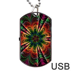 Kaleidoscope Patterns Colors Dog Tag Usb Flash (one Side) by BangZart