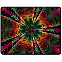 Kaleidoscope Patterns Colors Double Sided Fleece Blanket (medium)  by BangZart