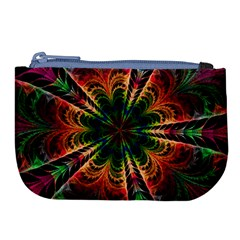Kaleidoscope Patterns Colors Large Coin Purse by BangZart