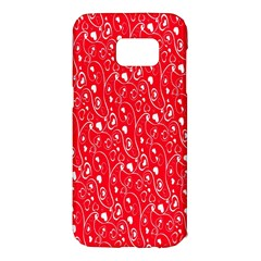 Heart Pattern Samsung Galaxy S7 Edge Hardshell Case by BangZart