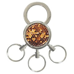 Honey Honeycomb Pattern 3 Ring Key Chains by BangZart