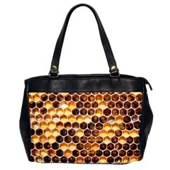 Honey Honeycomb Pattern Office Handbags (2 Sides)  by BangZart
