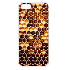 Honey Honeycomb Pattern Apple Iphone 5 Seamless Case (white) by BangZart