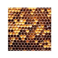 Honey Honeycomb Pattern Small Satin Scarf (square) by BangZart