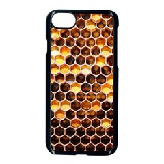 Honey Honeycomb Pattern Apple Iphone 7 Seamless Case (black) by BangZart