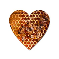 Honey Bees Heart Magnet by BangZart