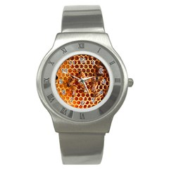 Honey Bees Stainless Steel Watch by BangZart