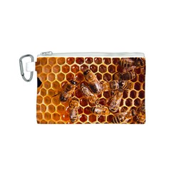 Honey Bees Canvas Cosmetic Bag (s) by BangZart