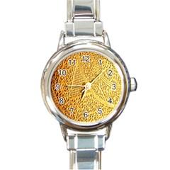 Gold Pattern Round Italian Charm Watch by BangZart
