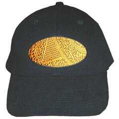 Gold Pattern Black Cap by BangZart