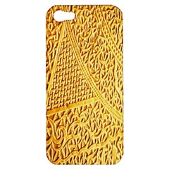 Gold Pattern Apple Iphone 5 Hardshell Case by BangZart