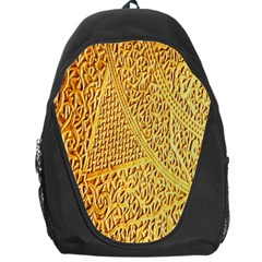 Gold Pattern Backpack Bag by BangZart