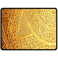 Gold Pattern Double Sided Fleece Blanket (large)  by BangZart