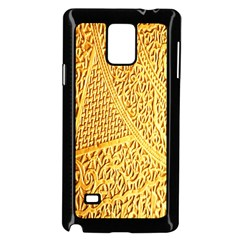 Gold Pattern Samsung Galaxy Note 4 Case (black) by BangZart