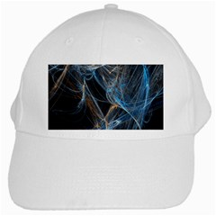 Fractal Tangled Minds White Cap by BangZart