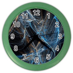 Fractal Tangled Minds Color Wall Clocks by BangZart