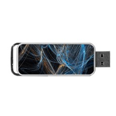 Fractal Tangled Minds Portable Usb Flash (one Side)