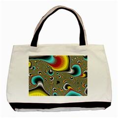 Fractals Random Bluray Basic Tote Bag by BangZart