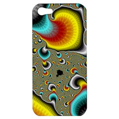 Fractals Random Bluray Apple Iphone 5 Hardshell Case by BangZart