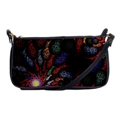 Fractal Swirls Shoulder Clutch Bags by BangZart
