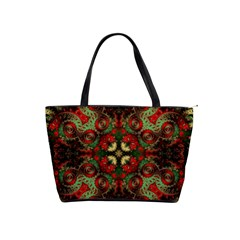 Fractal Kaleidoscope Shoulder Handbags by BangZart