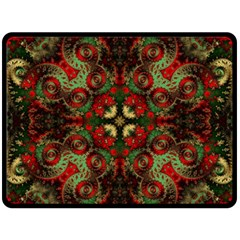 Fractal Kaleidoscope Double Sided Fleece Blanket (large)  by BangZart