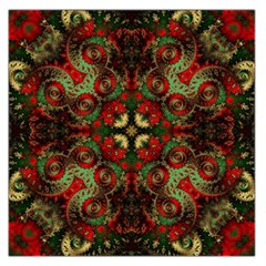 Fractal Kaleidoscope Large Satin Scarf (square) by BangZart