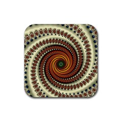 Fractal Pattern Rubber Square Coaster (4 Pack)  by BangZart