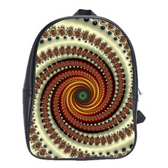 Fractal Pattern School Bags(large)  by BangZart