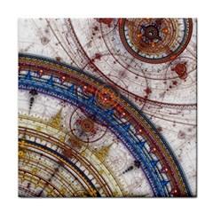 Fractal Circles Tile Coasters by BangZart