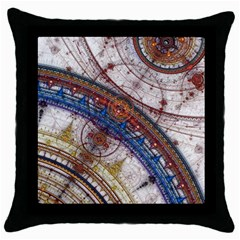 Fractal Circles Throw Pillow Case (black) by BangZart