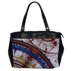 Fractal Circles Office Handbags by BangZart