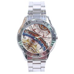 Fractal Circles Stainless Steel Analogue Watch by BangZart