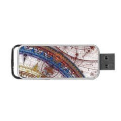 Fractal Circles Portable Usb Flash (two Sides) by BangZart
