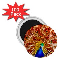 Fractal Peacock Art 1 75  Magnets (100 Pack)  by BangZart