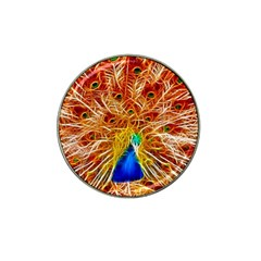 Fractal Peacock Art Hat Clip Ball Marker (4 Pack) by BangZart