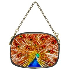 Fractal Peacock Art Chain Purses (two Sides)  by BangZart